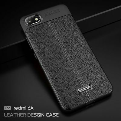 For Xiaomi Redmi 6 6A 6 Pro Shockproof Soft Rubber Leather Skin Back Case Cover