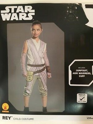 """Star Wars Kids Costume Character """"Rey"""" Dress Up Outfit Halloween Costume Size M"""