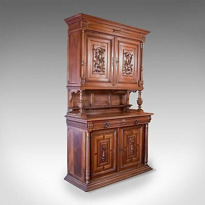 French Antique Show Cabinet, Victorian Cupboard Circa 1890