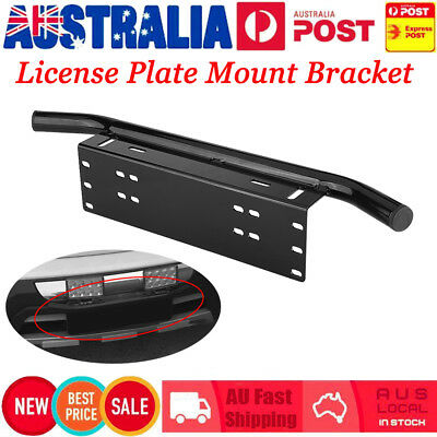 Car License Number Plate Frame Holder Bar Bumper Mount Light Lamp LED Bracket AU