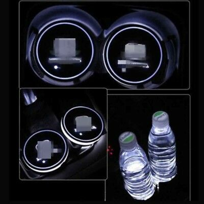 2Pcs 7 Color LED Car Cup Holder Pad Auto Interior Atmosphere Lights for Honda