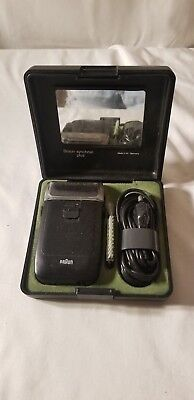 Vintage Braun Synchron Plus Electric Shaver in Case Germany Parts Only