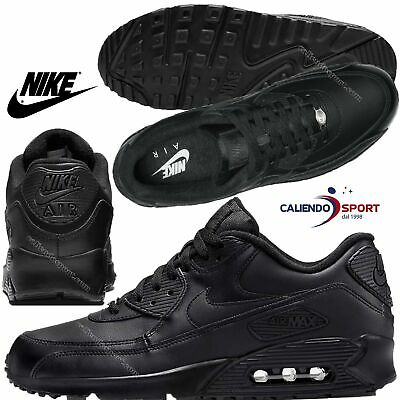 Sneaker Scarpa Nero 302519 90 Uomo Air Max Leather 001 Nike 29IDHWE