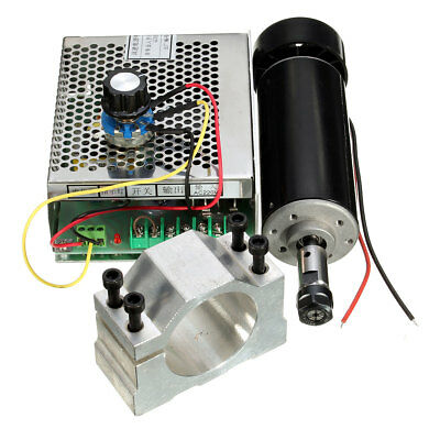 ER11 Chuck CNC 500W Spindle Motor + 52mm Clamps + Speed governor For DIY CNC