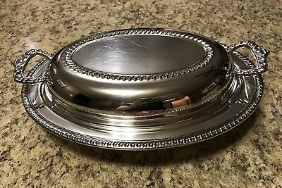 Silver Plated Covered Entre Serving Dish