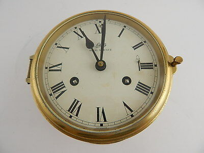 Vintage Schatz Royal Mariner Germany Orologio Navale Ship's Bell Clock