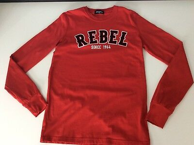 Dsquared2 Ds2 Boys Long Sleeve Top, Size Age 10 Years, Red Rebel, Vgc