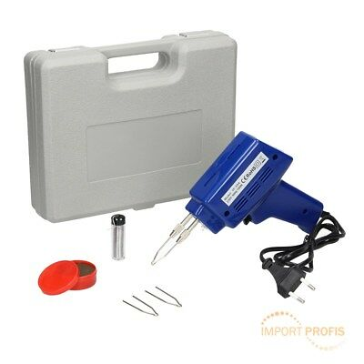 100W 6pc kit electric soldering iron solder gun 2 spare tips welding gun wire