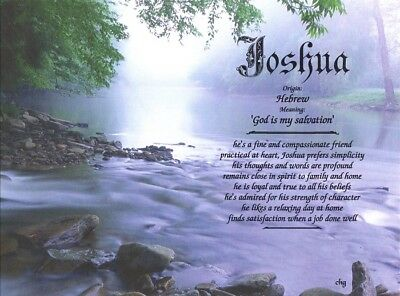 """Mountain Stream"" Name Meaning Personalized with Any Name"