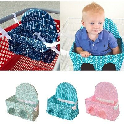 Portable Baby Kids Shopping Cart Cushion Supermarket Push Cover Trolley Pad