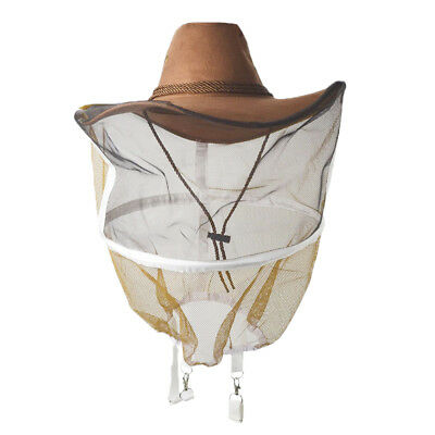 Breathable Beekeeping Veil Cow Boy Beekeeper Hat Costume Protective Suit