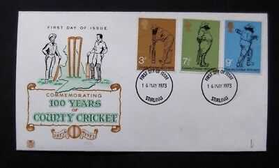 GB-1973-100 years of County Cricket-Stirling
