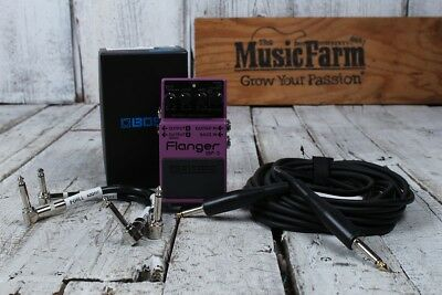Boss BF-3 Flanger Electric & Bass Guitar Flanging Effects Pedal with FREE Cables