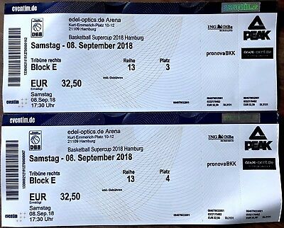 Basketball Supercup 2018 Hamburg Tickets Samstag 08. September
