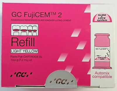 Gc Fujicem  2 Glass Ionomer Cement - Refill Automix Compatible 2 Pack Fresh!!!!!