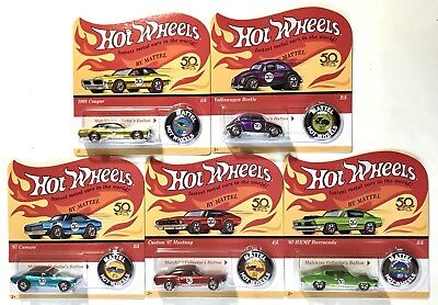 Hot Wheels 50th Anniversary Original Redlines Unpunched 2018 Complete Set of 5