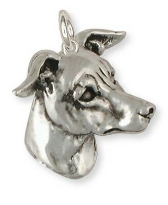 Solid Sterling Silver Italian Greyhound Charm Jewelry IG6-C