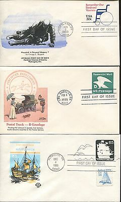 Lot of 24 US Fleetwood HF PVA Cachet First Day of Issue Covers | Dates 1971-1992