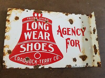 Agency for Long Wear Shoes Craddock Terry Porcelain 2 sided Flange Liberty Bell