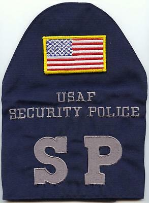 NEW Authentic GI US Military Air Force Security Police Brassard W Velcro US Flag
