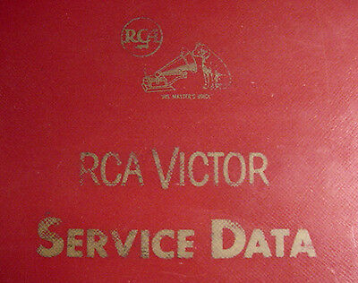 Service Data for Vintage RCA Radios Phonographs TVs