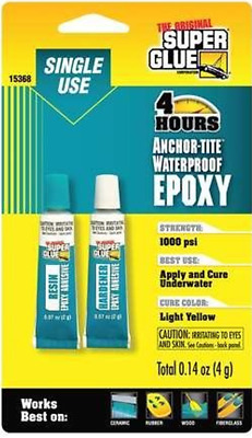 1X Super Glue Super Glue Anchor Tite Waterproof Epoxy - Apply Underwater