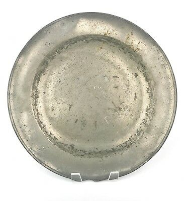 An Antique Early Pewter Charger Dish 17th-18th Century