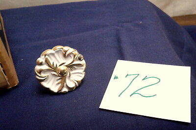 "Vintage Amerock 1.25"" French Provincial Drawer Pull Knob Ivory Gold Fancy Ornate"