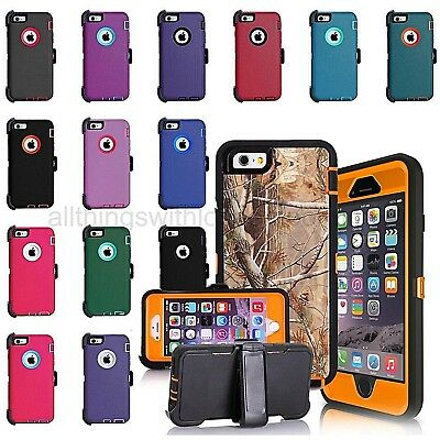 Shockproof Hard Case Cover Apple iPhone 6S Plus 6 Plus 6s 6 (Clip Fits Otterbox)