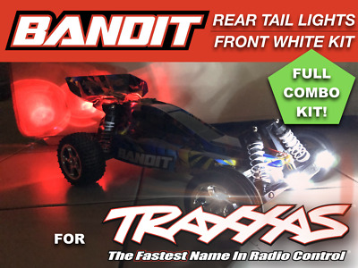 LED lights Front & Rear COMBO for Traxxas Bandit Stock bumpers waterproof