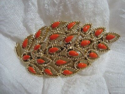 BEAUTIFUL Signed GERRY'S Gold Tone Leaf Motif Brooch. A Must See!!