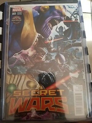 Secret Wars 1 GameStop Greg Horn Exclusive Variant