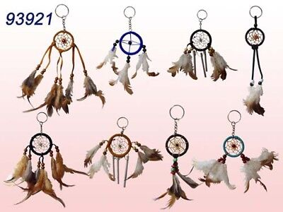 Hand Made Native Pride  Dream Catcher Key Rings - 6 Pc Lot (NpDc7C Z)