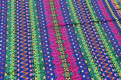 Handmade Tapestry table runner - intricate weave multi-colored from Guatemala #3