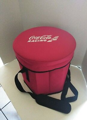 Vintage Coca Cola Racing Insulated Red Cooler Bag With Strap