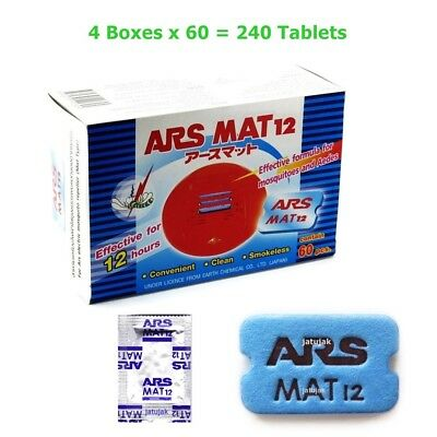 240X Mosquito Repellent Ars Mat 12 Tablets Plug In Electric