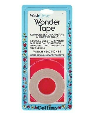 """Collins Wash Away Wonder Tape 1/4"""" X 10 yards Double Sided Transparent"""
