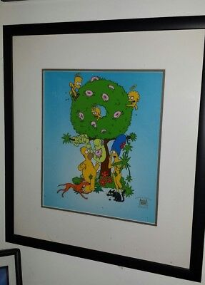 the Simpsons limited edition garden of Springfield fox seal coa framed