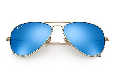 Ray-Ban Aviator Blue Flash POLARIZED Sunglasses, RB3025 58mm