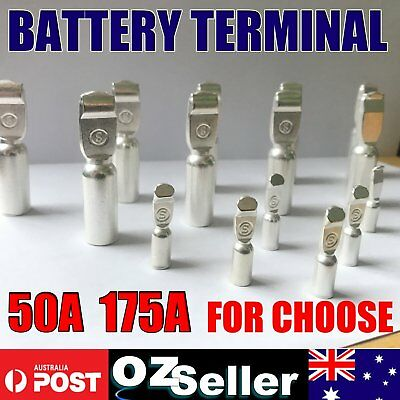 50Amp 175Amp Copper Terminal Electrical Battery Connector Contact Silver Tone