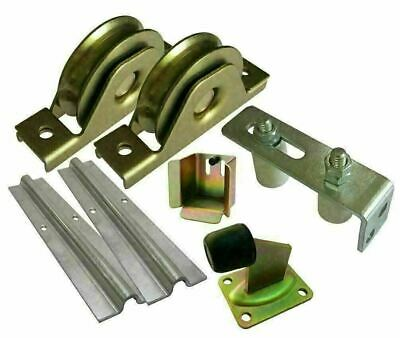 Sliding Gate Hardware Kit-Wheels,Steel Track, Gate Keeper, Roller Guide, Stopper