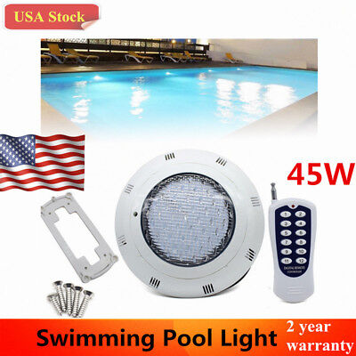 12V 45W RGB Swimming LED Pool Lights Spa Underwater Light IP68 Waterproof  Lamp