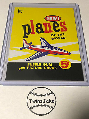2018 Topps 80th Anniversary Wrapper Art Card #27 Planes of World [Print Run 221]