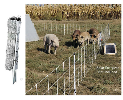"""Electric Pig Net Fence Goat Sheep Chicken Outdoor Fencing Large Cage 30"""" H  100L"""