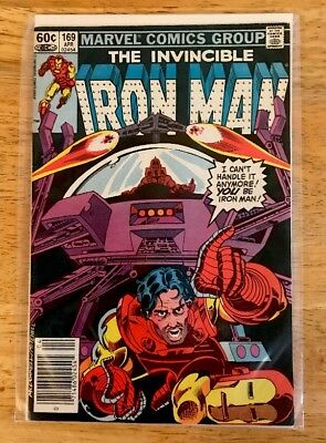 IRON MAN #169 (1983) VF Bagged & Boarded 1st James Rhodes as Iron Man