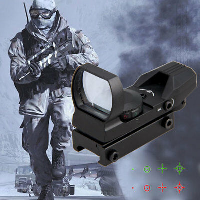 Red/Green Dot Rifle Scope Reflex Holographic Tactical 1X Hunting Scope 20mm Rail