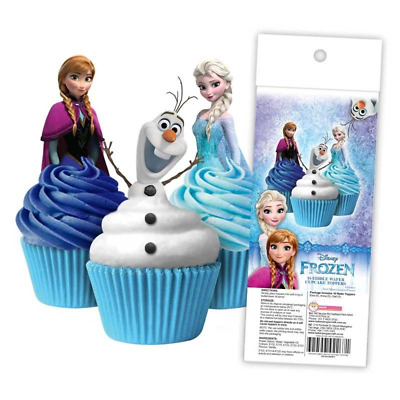 Frozen Edible Wafer Cupcake Toppers - Pack Of 16