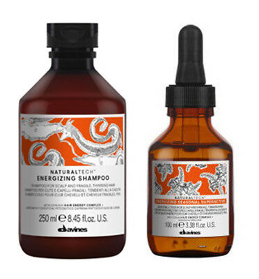 Kit Davines Energizing Shampoo 250Ml+Seasonal Superactive 100Ml Serum Anticaduta