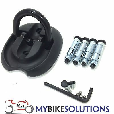 Triton Steel Motorcycle Motorbike Scooter 4 Bolt Flip Up Down Wall Ground Anchor