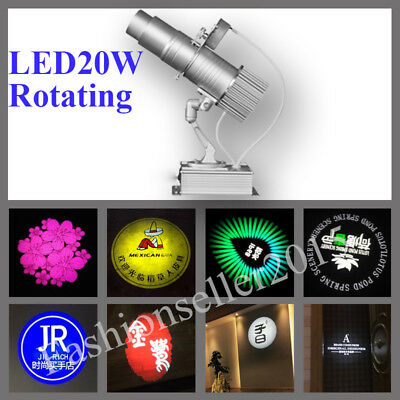 20W LED Rotating Advertising Logo Projector Light Shop Building Projection Lamp